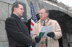 Commissioner Benepe and State Senator Padavan discuss the battery's future.