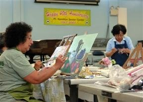 Painting Class at the Senior Center