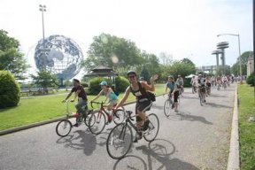 Biking in Flushing Meadows Corona Park