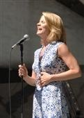 Kelli O'Hara singing at Marcus Garvey Park