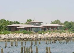 The Salt Marsh Nature Center at Marine Park in Brooklyn.