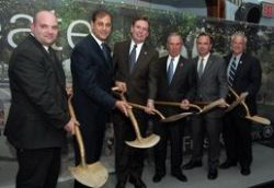 Mayor Bloomberg, Commissioner Benepe, and elected officials broke ground on Schmul Park on Wednesday.