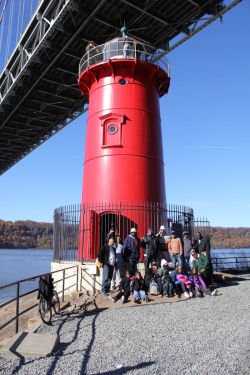 Participants in the Daddy and Me Adventure toured the Little Red Lighthouse in Fort Washington Park on November 13.