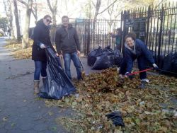 Volunteers working last weekend at Sara D. Roosevelt Park