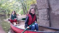 NYC Parks Conservations Corps members Marissa Altmann and Brittany Quale;