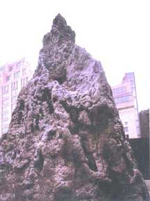 A computer generated image of what an installed termite hill will look like.