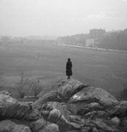 The view from Vault Hill (composed of Fordham Gneiss) in Van Cortlandt Park, 1934.