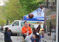 Playing Basketball at Street Games