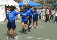 People performing double dutch