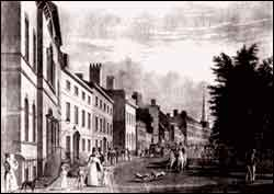 Photo of Bowling Green and Broadway, 1826