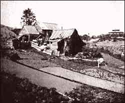 Photo of Squatter's Shack, near Central Park, 1862