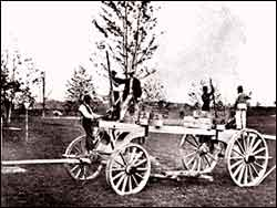 Photo of the Tree Moving Machine, Prospect Park, ca. 1871