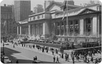 New York Public Library Construction, Bryant Park, circa 1902, collection of the New York Public Library
