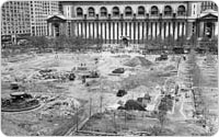 Bryant Park Construction, June 15, 1934, New York City Parks Photo Archive