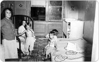 Interior of Lincoln Square Tenements, circa 1956, New York City Parks Photo Archive