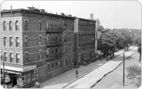 Property on Bergen St, view towards Troy Ave, prior to construction, c. 1950, New York City Parks Photo Archive