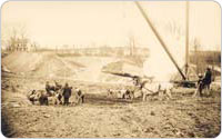 Elmhurst Gas Tanks Construction, 1910, photograph courtesy of National Grid