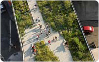 Washington Grasslands, Overhead View, the Highline, 2009, ©Iwan Baan, photograph courtesy of Friends of the High Line
