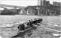 Columbia University Rowers on Harlem River, 1953