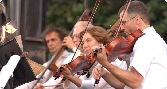 July 17, 2007 Philharmonic Orchestra concert on the Central Park Great Lawn. Photo: Daniel Avila