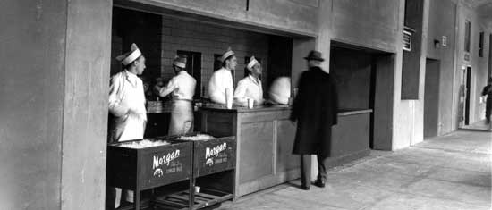 Lunch Concession, Municipal (later Downing) Stadium, Randall's Island (See photo dated September 15, 1940, Max Ulrich/New York City Parks Photo Archive)