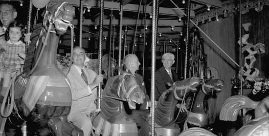 Friedsam Memorial Carousel, Central Park, Manhattan July 2, 1951, New York City Parks Photo Archive