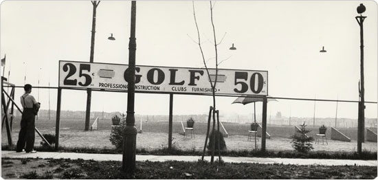Image of September 30, 1936 shot of the driving range at Ocean Parkway in Brooklyn.