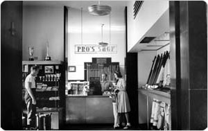 Split Rock Golf Pro´s Shop (interior), Pelham Bay Park, the Bronx, September 10, 1940, New York City Department of Parks & Recreation Photo Archive.