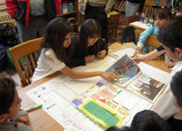 Students at P.S. 69Q designing the new playground