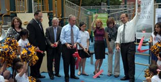 Playground ribbon cutting at PS 205K in Bensonhurst, Brooklyn