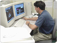 Photo of GIS mapping intern