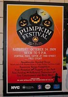 Pumpkin Festival 2009 poster in a subway station