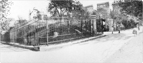 Image of Northwest entrance to Morningside Park, circa 1915, shortly after restorations. Neg. AR845