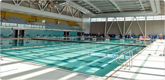 Image of November 2007 Interior Shot of Flushing Meadows Corona Park Aquatic Center. Photo: Daniel Avila