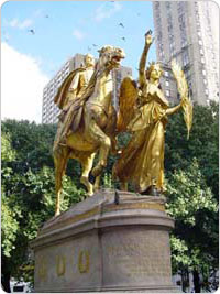 Sherman Monument in Grand Army Plaza, Manhattan, December 2004.