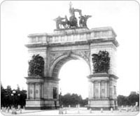 Soldiers and Sailors Memorial Arch, Grand Army Plaza, Brooklyn, circa 1910. Courtesy of Parks Photo Archive, Neg. 24342.