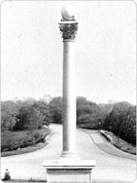 Maryland Monument image from the Parks Department Annual Report, circa 1895.