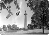 August 24, 1941 image of the Prison Ship Martyrs Monument in Fort Greene Park. Courtesy of Parks Photo Archive, August 24, 1941.