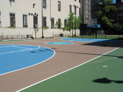 Photograph of the Al Smith basketball court