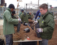 Photo of GreenApple Corps members working