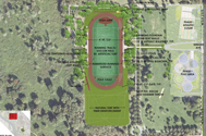 The track in the northern part of the park will be refurbished and complemented by a new, lighted synthetic turf soccer field.