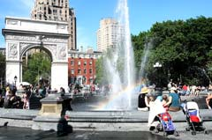 The newly conserved fountain in Washington Square Park. Photo by Malcolm Pinckney.