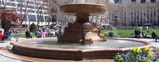 Josephine Shaw Lowell fountain in Bryant Park.