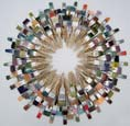 Cara Enteles, Painter's Wreath, repurposed paint brushes, glue,  wire, 2011