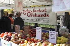 Red Jackets Orchards farmers' market booth at Pumpkin Festival
