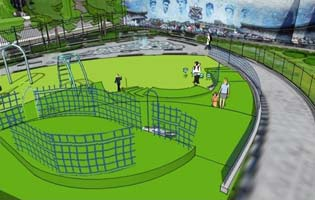 River Avenue Pocket Parks Play Area Rendering