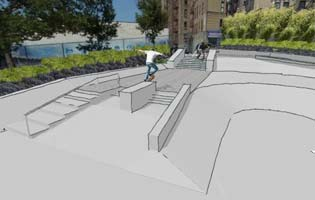 River Avenue Pocket Parks Skate Park Rendering