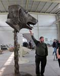 Ai Weiwei with Dog's Head Sculpture, Courtesy of AW Asia