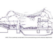Preliminary Concept Sketch of the Astoria Park Performance Center