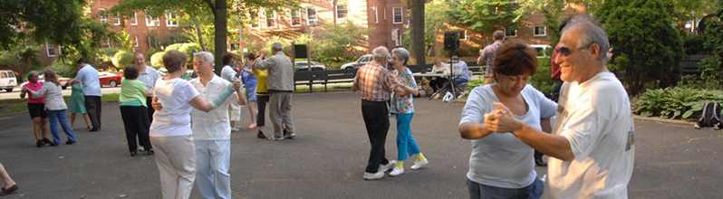 Seniors enjoy a dance class in Forest Park